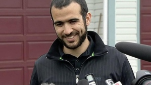 Omar Khadr after his release (Photo courtesy of CBC)